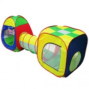 Tomtopp Cubby-Tube-Teepee 3pc Pop-up Play Tent Children Tunnel Kids Adventure House
