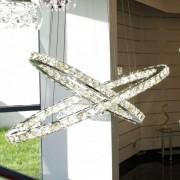 Kosiluz Lámpara de techo LED - cristal 2 anillos - Oslo
