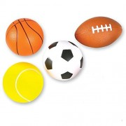 """4 Soft Foam Sports Balls For Kids 3.5"""" Perfect for Small Hands Includes 1 Soccer Ball"""
