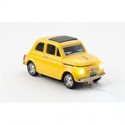 Myš CLICK CAR MOUSE Fiat 500 Oldtimer Yellow (USB Wired)