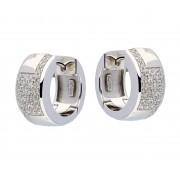 Zilveren 107.0279.00 Klapcreolen met zirconia 16 mm