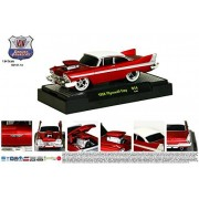 1958 Plymouth Fury (Red / White) * M2 Machines Ground Pounders Release 14 * 2015 Castline Premium Edition 1:64 Scale Die Cast Vehicle (R14 15 04)