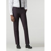 Ben Sherman Main Line Mulberry Crepe Weave Camden Fit Trouser 40R Mulberry