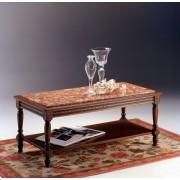 XIV. Lajos kisasztal fa felülettel, betéttel