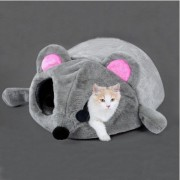 Cartoon Mouse Shape Bed Small Cat Dog Cave Nest Cozy Mat Sleeping Cushion Pet House Home