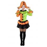 Coppens Harlequin neon met hoed - Oranje - Grootte: 38
