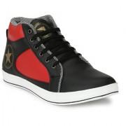 Lavista Men's Black Synthetic Leather Casual Shoe