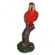 Merkloos Rode decoratie papegaai 32 cm - Tuinbeelden