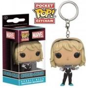 Funko POP! Keychain Marvel Spider Gwen Unmasked in display