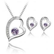 Set Elemente Swarovski Inima Purple H