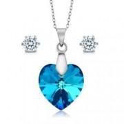 Set bijuterii argint Ocean cu cristale SWAROVSKI CRYSTALS + CADOU Laveta curatat bijuteriile din argint