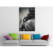 "Tablou grand canvas ""Painting portrait of a horse"" - cod Z27"