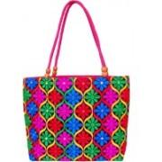 Womaniya Handicraft Alluring Embroidery Pink Shoulder Bag