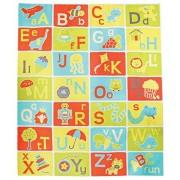 Pacific Play Tents 96000 Kids A-B-C Esterilla de Aprendizaje y diversión para recámara, Sala de Juegos o Aula, 122 x 147 cm