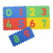 Colorful Kids play Puzzle style mat with Numbers (0 to 9) set of 10 Pcs 12 X 12