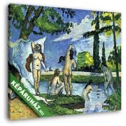 Paul Cézanne: Fürdőzők (30x25 cm, Vászonkép )