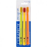 Curaprox 3960 Super Soft escovas de dentes 3 unidades variantes de cor 3 un.
