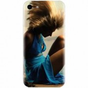 Husa silicon pentru Apple Iphone 5 / 5S / SE Girl In Blue Dress