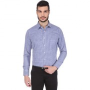 Dudlind Men Formal Full Sleeve Regular Fit Shirt Colour Dark Blue   Mens Shirts for Office and Business wear