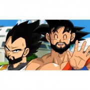 bearded goku and vegeta sticker poster|dragon ball z poster|anime poster|size:12x18 inch|multicolor