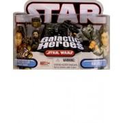 Star Wars Galactic Heroes Princess Leia in Boushh Disguise & Han Solo Figure Set