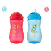 Biberon de invatare, faza 3, cu pai, +12 luni, Nenikos, 300 ml, fara BPA