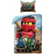 LEGO NINJAGO 2 részes gyermek ágynemű-garnitúra 140x200+70x90 cm