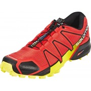 Salomon Speedcross 4 Hardloopschoenen Heren geel/rood UK 10 / EU 44 2/3 2018 Trailrunning schoenen