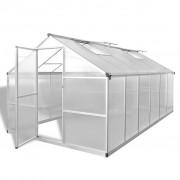 vidaXL Seră din aluminiu ranforsat cu cadru de bază, 9,025 m²