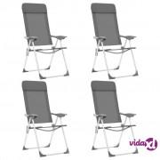 vidaXL Sklopive stolice za kampiranje 4 kom zelene aluminijske