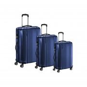 Juego 3 maletas ABS rigidas con giro 360º Azules