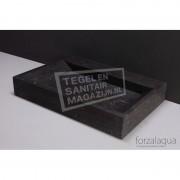 Forzalaqua Bellezza Wastafel 80 cm Hardsteen Gezoet 80,5x51,5x9 cm 1 wasbak 1 kraangat