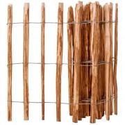 vidaXL Gard din țăruși, lemn de alun, 90 x 500 cm