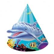 Geen Papieren oceaan thema feesthoedjes 8 stuks