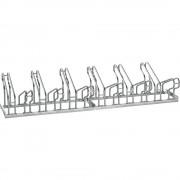 EUROKRAFT Fahrradständer, Bügel aus 18 mm Stahlrohr Radeinstellung zweiseitig, feuerverzinkt 12 Stellplätze