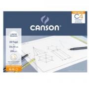 > Album pochette C4 carta da disegno 24x33cm 200gr 20fg liscio riquadrato Canson (unit