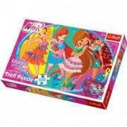 Puzzle Winx Club 100 pcs - Cu prietenii in club