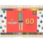 Colleen 60 Colors Box of 30 Coloured Pencils - No 787 From Thailand