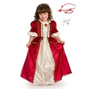 Little Adventures Winter Beauty Princess Dress Up With Necklace, Bracelet & Hairbow Age 7 9