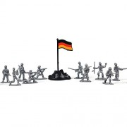 A Little Lemon 100pcs small toy soldier sand table model of the plastic toy soldiers, the best gift children boys, 12 styles,silver