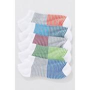 Mens Next Stripe Trainer Socks Five Pack - White Stripe