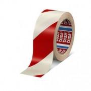 Banda adeziva de marcare 50mm x 33m alb/rosu Tesa