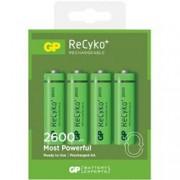 Gp Batteries Blister 4 Batterie Ricaricabili AA Stilo 2600mAh GP ReCyko+