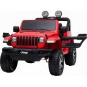 Masinuta electrica 4x4 Premier Jeep Wrangler Rubicon 12V roti cauciuc EVA scaun piele ecologica rosu