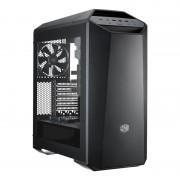 "CARCASA COOLER MASTER. MasterCase. Maker 5, window version, mid-tower, ATX, 3* 140mm fan (inclus), I/O panel, fan controller, LED strip, black ""MCZ-005M-KWN00"""