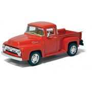 Kinsmart 1:38 Scale Die-Cast 1956 Ford F-100 Pickup with Openable Doors & Pull Back Action