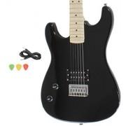 Davison Guitars GTR235 LH BK GCP Left Handed Black Full Size Electric Guitar With Cord & Picks