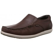 Hush Puppies Men's Brad Slip On Brown Leather Loafers and Mocassins - 9 UK/India (43 EU)(8544828)