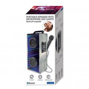 Lexibook Portable Karaoke Bluetooth Speaker With Microphone And LED Lights