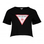 Guess T-SHIRT CROP LOGO DONNA